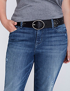 Studded Belt with Oval Buckle