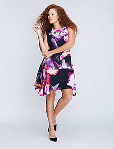 Floral Trapeze Dress by Julia Jordan