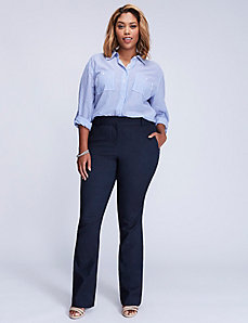 Ashley Sexy Stretch Faux-Denim Boot Pant