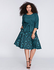 Pleated Full Skirt by Melissa McCarthy Seven7