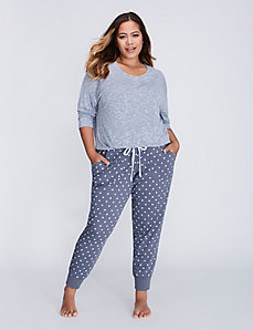 Printed Cuffed Lounge Pant