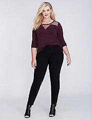 Point D'Esprit 3/4-Sleeve Top