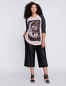 Graphic Raglan Top by Melissa McCarthy Seven7
