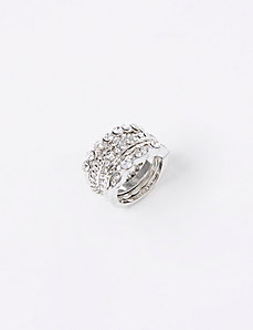 5-Row Stackable Rings with CZ