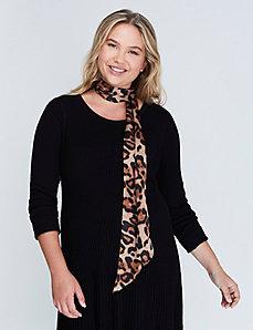 Leopard Skinny Scarf