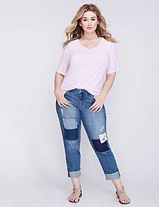 Modest Sleeve V-Neck Supima Tee