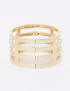 Hammered Linear Stretch Bracelet