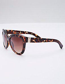 Tortoise Sunglasses with Goldtone Detail