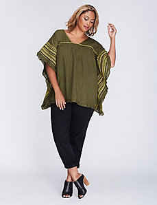 Ruffle-Hem Drama Top