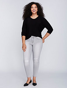 Gray Super Stretch Skinny Jean
