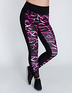 Antimicrobial Colorblock Active Legging with Mesh