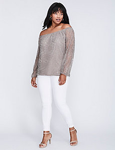 Off-the-Shoulder Lace Top