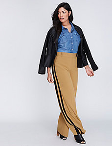 Sophie Tailored Stretch Tuxedo Stripe Wide Leg Pant