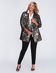 Gold Metallic Jacquard Jacket