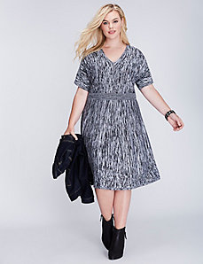 Short-Sleeve Sweater Dress