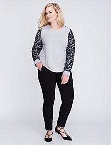 Lace Woven Sweatshirt