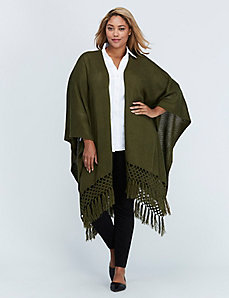 Dark Olive Crochet Wrap