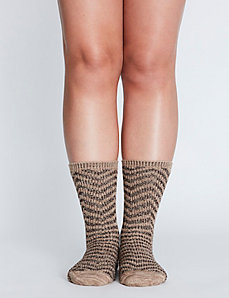 Chevron Boot Sock
