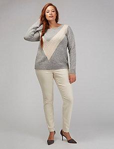 Ecru Skinny Jean