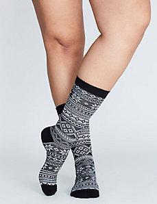 Fair Isle Boot Socks