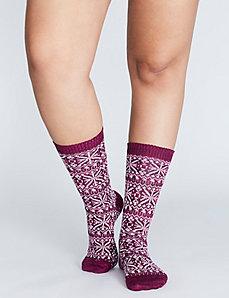 Snowflake Boot Socks