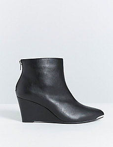 Wedge Ankle Boot with Metal Toe