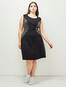 6th & Lane Spliced Ponte Dress