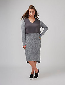 Hoodie Dress with Chiffon