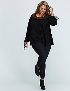 Peasant Top with Lace