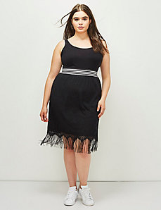 6th & Lane Lace Skirt with Fringe