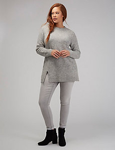 Split-Hem Tunic Sweater