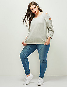 6th & Lane Slash Sleeve Sweatshirt