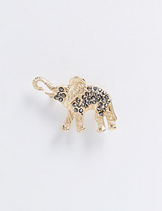 Elephant Pin with Faceted Stones