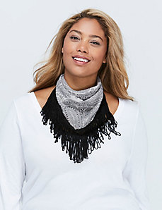 Square Paisley Scarf with Fringe