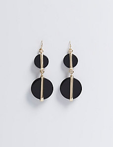 Double Acrylic Circle Drop Earrings