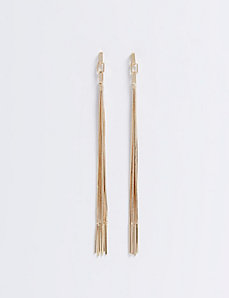 Long Linear Fringe Earrings