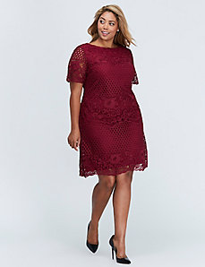 Crochet Lace Shift Dress by Julia Jordan