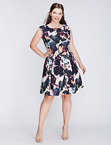 Floral Fit & Flare Dress by Gabby Skye