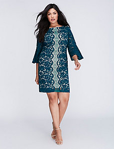 3/4 Sleeve Lace Sheath Dress by Gabby Skye