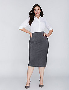 Sparkle Ponte Midi Pencil Skirt