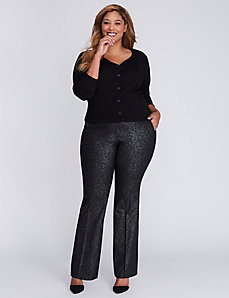 Ashley Sexy Stretch Silver Foil Boot Pant
