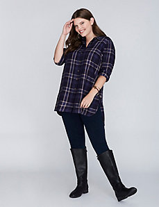 Plaid Casual Tunic