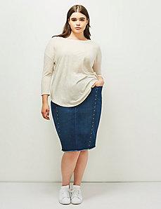 6th & Lane Studded Denim Skirt
