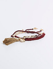 2-Row Cabernet Bracelet Set