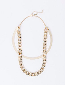 Modern Collar Necklace with Chain