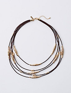Short Multi-Layer Cord Necklace