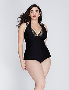Double-Strap Swim Tank with Built-In No-Wire Bra