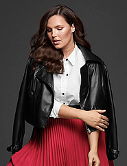 Faux Leather Moto Jacket by GLAMOUR X LANE BRYANT
