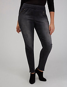 Faded Black Destructed Skinny Jean