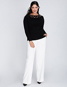 Sophie Tailored Stretch Wide Leg Pant